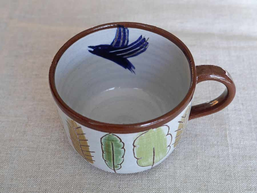 Bird in mixed woodland cup