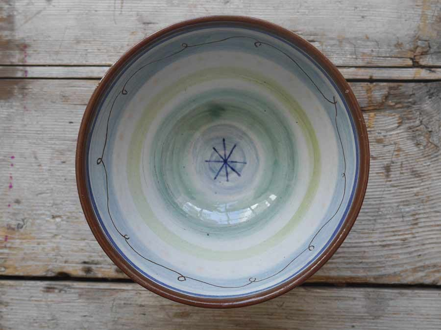 Slip decorated bowl