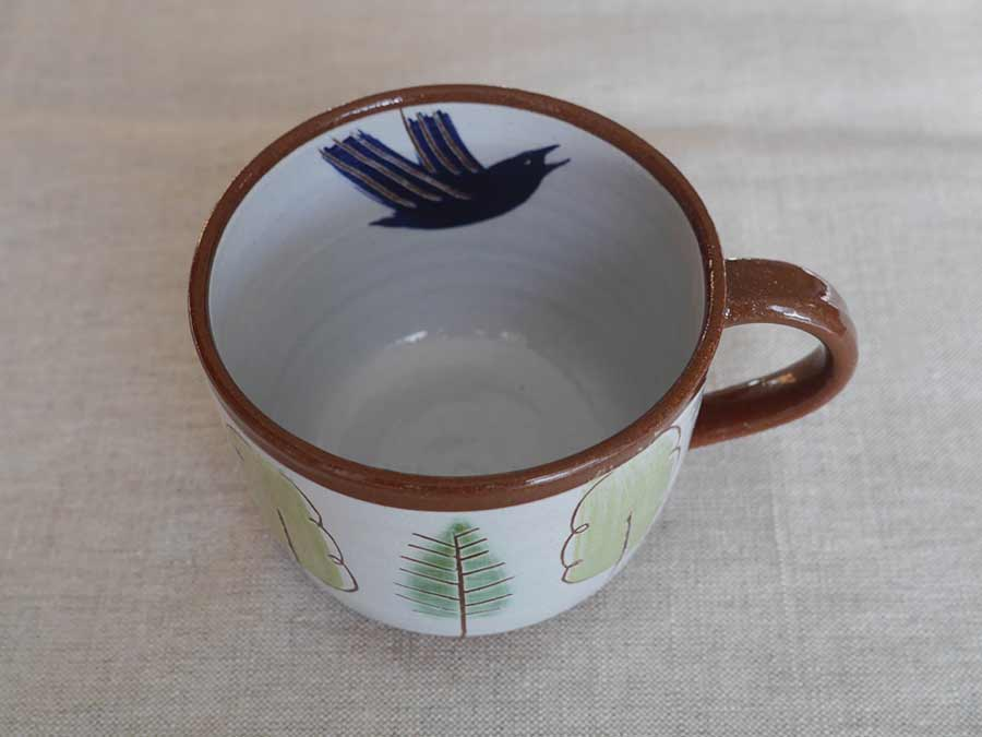 Lucy Ogden ceramics rook in pine and oak cup image
