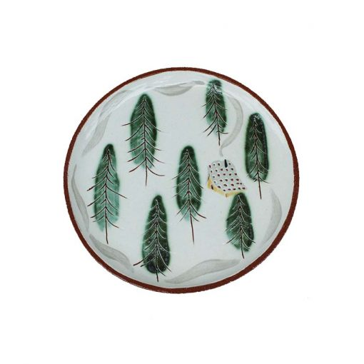 lucy ogden handmade-decorated ceramics sussex plate cabin cutout image