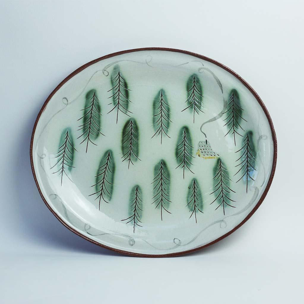 Flora plate handmade ceramics lucy ogden Sussex Ceramicist image
